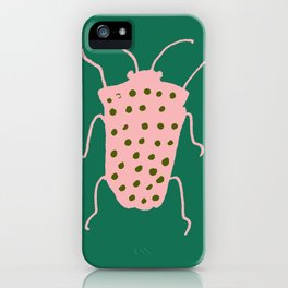 Beetle green iPhone Case