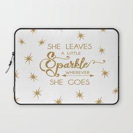 She Leaves a Little Sparkle Wherever She Goes Laptop Sleeve