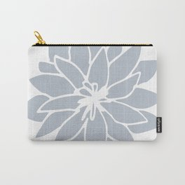 Flower Bluebell Blue on White Carry-All Pouch