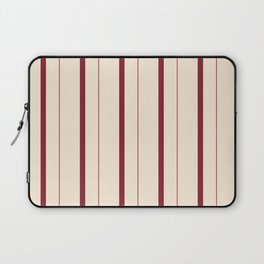 Antique Ruby and Antique White Stripes Laptop Sleeve