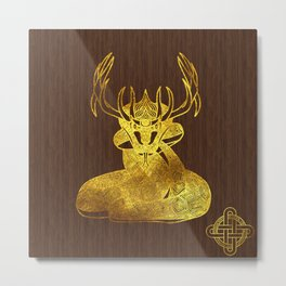 Ilvermorny Horned Serpent Metal Print