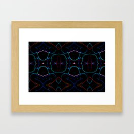Bright lights in black Framed Art Print
