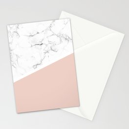 White Marble Pale Dogwood Stationery Cards