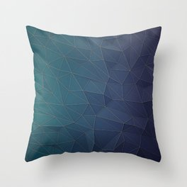 Elegant Low Poly Web Throw Pillow