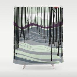 Japan woodland Shower Curtain