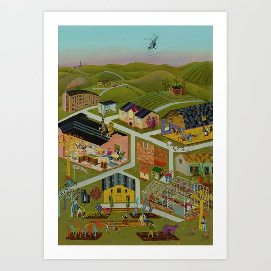map of a village Art Print