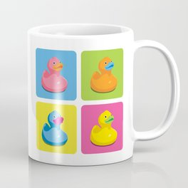 Rubber Duckies Pop Art Coffee Mug