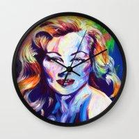 wasted rita Wall Clocks featuring Rita by palominolane
