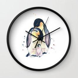 Penguins Family Wall Clock