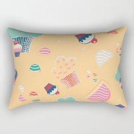 Cupcake yellow Rectangular Pillow