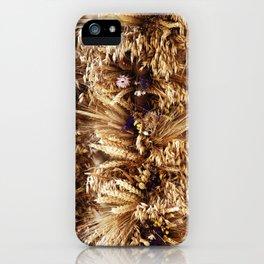 Getreide Trockenblumengestecke iPhone Case