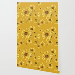 Sunflower Pattern 3 Wallpaper