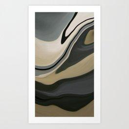 Camo Sand Landscape Art Print