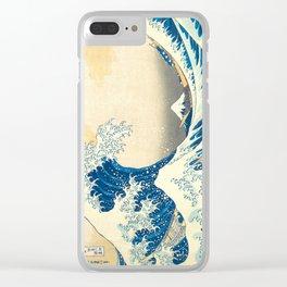 Japanese Woodblock Print The Great Wave of Kanagawa by Katsushika Hokusai Clear iPhone Case