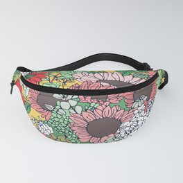 Pretty aspen gold and pink floral design Fanny Pack