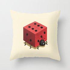 Ladiebug Throw Pillow