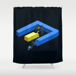 Tron Wall Shower Curtain