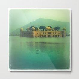 Jaipur Water Palace Metal Print