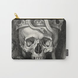 Skull Crowned with Snakes and Flowers by Henry Weston Keen Carry-All Pouch