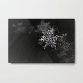 Silver Snowflake Metal Print