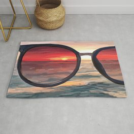 Shaded Key West Sunset Rug