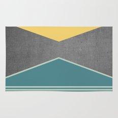 Concrete & Triangles III Rug
