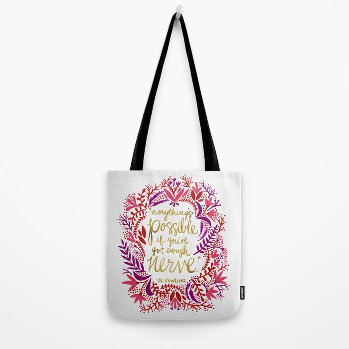 Anything's Possible – Gold & Red Tote Bag