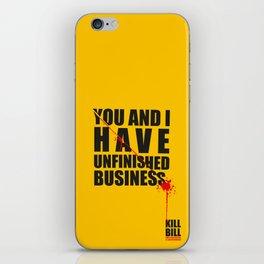 Kill Bill Minimal Poster 2.0 iPhone Skin