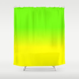 Neon Green and Neon Yellow Ombré  Shade Color Fade Shower Curtain