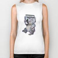koala Biker Tanks featuring koala  by Laura Graves