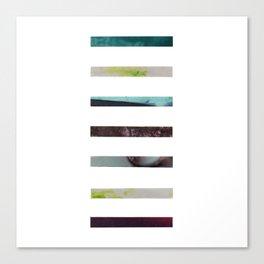 Cool Tone Strips Canvas Print
