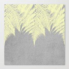 Concrete Fern Yellow Canvas Print