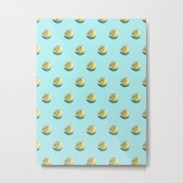 Lemonade Blue Metal Print