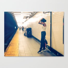 Is hot down here New York Subway Canvas Print