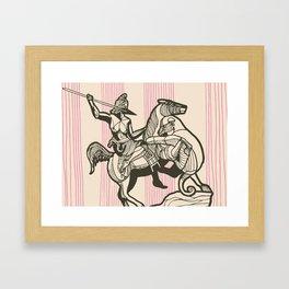 Berlin-Spearwoman Framed Art Print