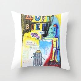 40ft Deep Throw Pillow