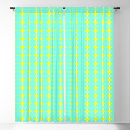 aqua circles Blackout Curtain