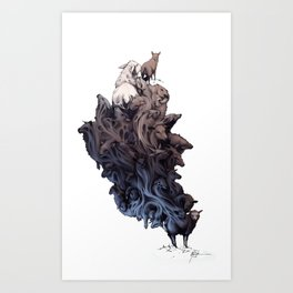 Did you see the Wolf? Art Print