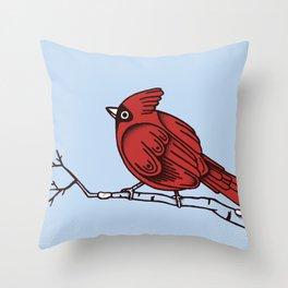 Winter Cardinals  Throw Pillow