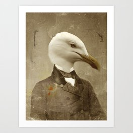 TIR-Head.1 - Seagull Art Print