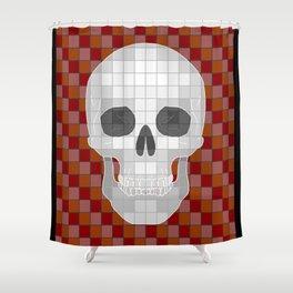 Red Ѕkull Shower Curtain