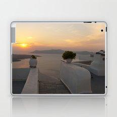 Santorini sunset Laptop & iPad Skin