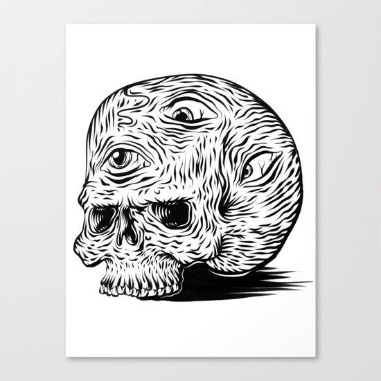 third-eyed skull Canvas Print