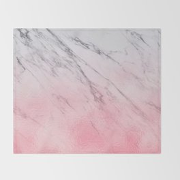 Cotton candy marble Throw Blanket