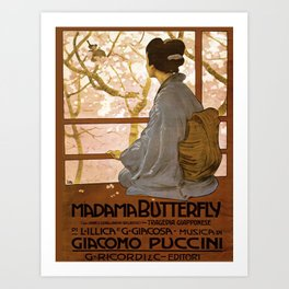 Vintage poster - Madama Butterfly Art Print