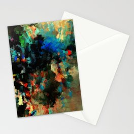 Colorful Landscape Abstract Painting Stationery Cards