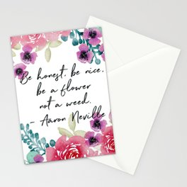 Pink and Violet Watercolor Inspirational Quote Stationery Cards