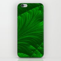 renaissance iPhone & iPod Skins featuring Renaissance Green by Charma Rose
