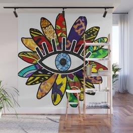 Greek Evil Eye African Flower Wall Mural