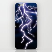 lightning iPhone & iPod Skins featuring lightning by Li-Bro